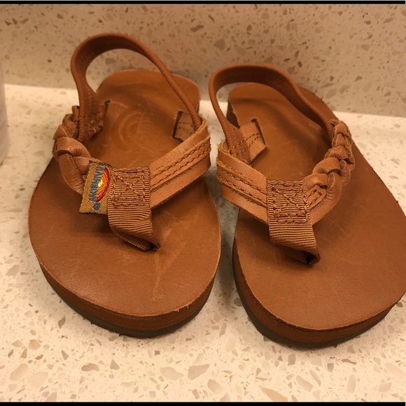 ac14a85cadc0 Girls Flirty Braidy Leather Rainbow Sandals. M 5a596a3a85e605d850763c24